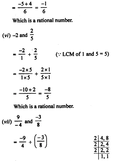 Selina Concise Mathematics Class 8 ICSE Solutions Chapter 1 Rational Numbers EX 1A 5
