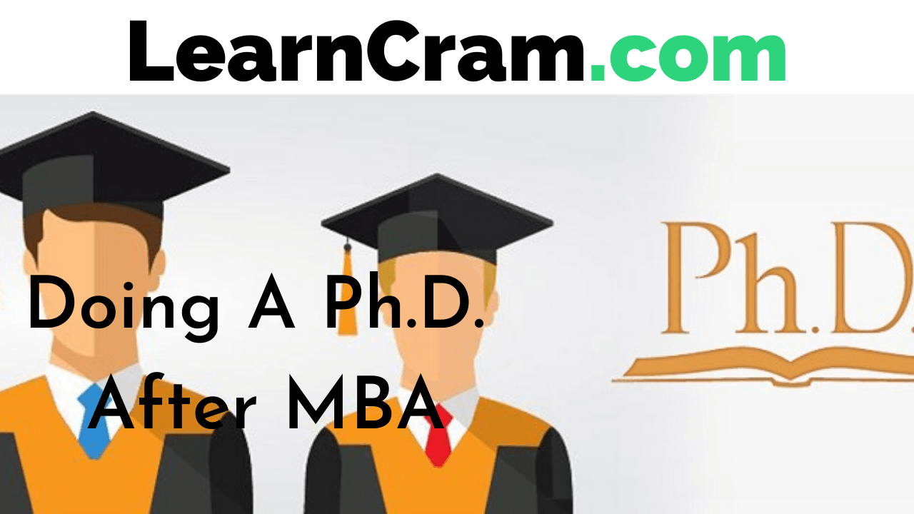 Doing A PhD After MBA