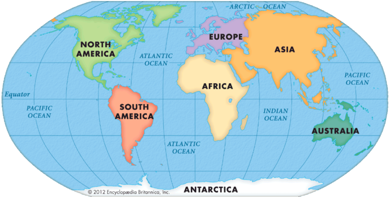 Continents of the Earth