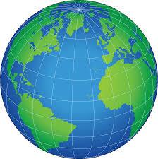 Globe - Latitudes and Longitudes