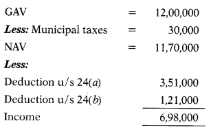Computation of Income Under Various Heads - CS Executive Tax Laws MCQ 11