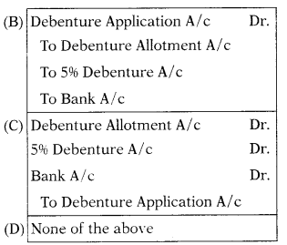 Issue & Redemption of Debentures – Corporate and Management Accounting MCQ 2