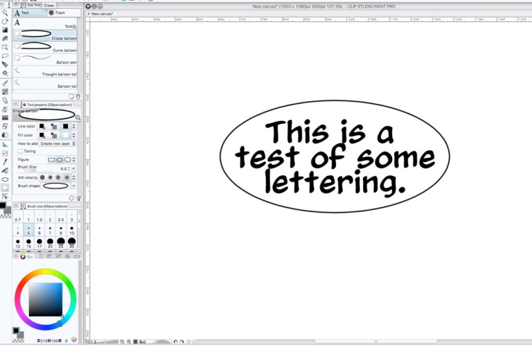 Drawing Word Balloons from the Center