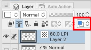 Change Layer Color tool above the layers list