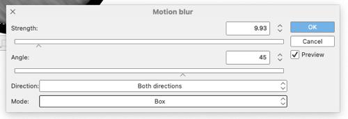 Motion Blur window