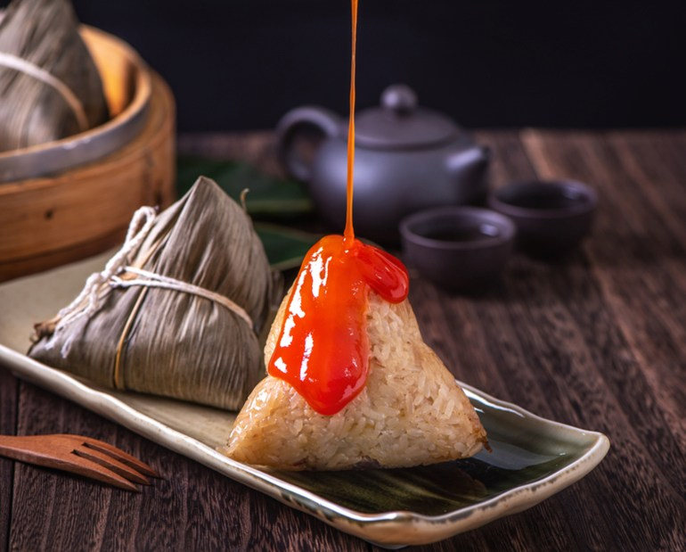 粽子-沾醬-花生粉