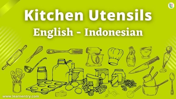 Kitchen Utensils Names In Indonesian English Kitchen Utensils Learn Entry