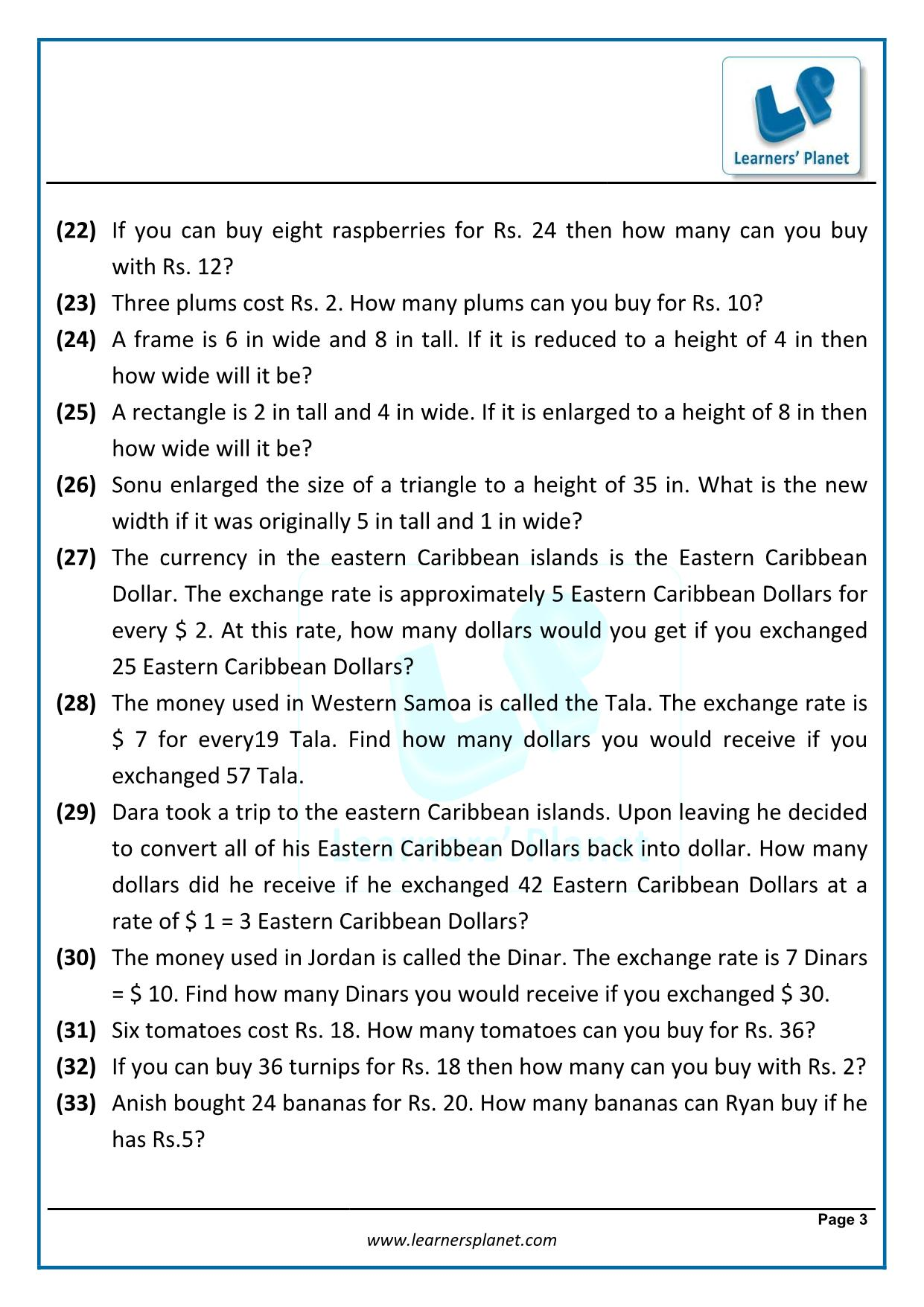 Linear Equations For Class 7 Cbse Worksheets