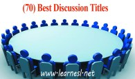 Best Discussion Titles