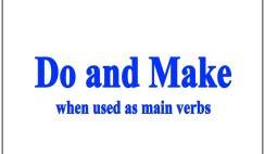 How to Use Do and Make