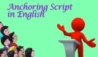 Anchoring Script in English
