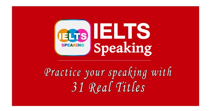 IELTS Speaking Titles