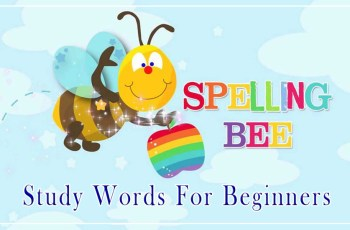 Spelling -Bee Study Words For Beginners