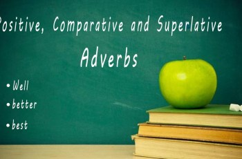 Positive, Comparative and Superlative Adverbs