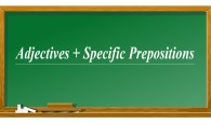 Using Adjectives With Specific Prepositions