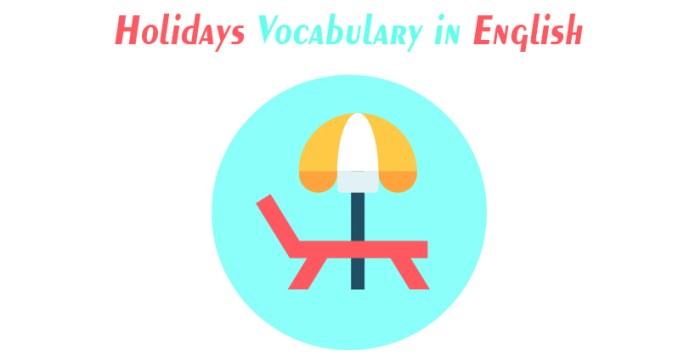 Holidays Vocabulary