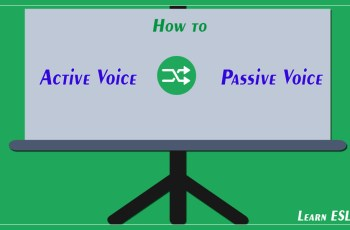 How to Change Active Sentences to Passive Sentences
