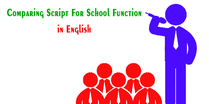 Comparing script for school function | Best lines for