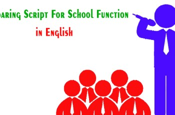 Comparing Script For School Function
