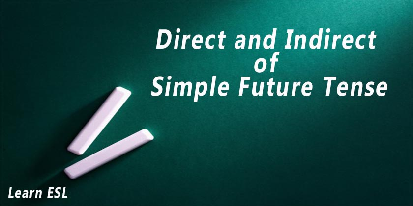 Direct And Indirect Of Simple Future Tense Direct Indirect Of