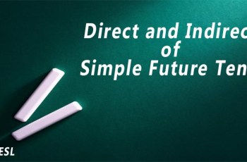 Direct and Indirect of Simple Future Tense