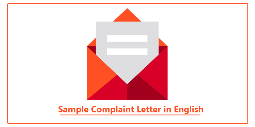 Sample complaint letter in english complaint letter for poor sample complaint letter in english spiritdancerdesigns Gallery