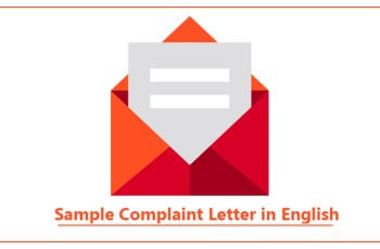 Sample Complaint Letter in English