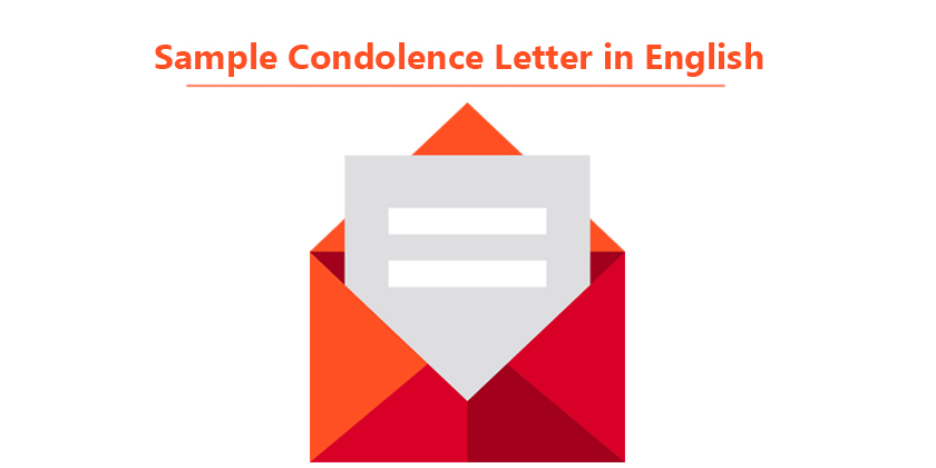 Sample Condolence Letter In English  Sample Sympathy Letter