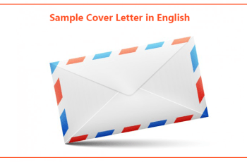Sample Cover Letter in English