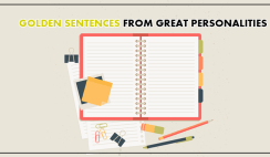 Golden Sentences From Great Personalities
