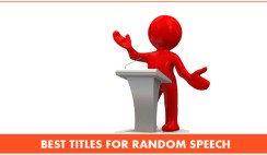 Best Titles For Random Speech
