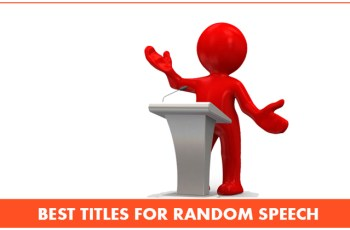 Best Titles For Random Speech