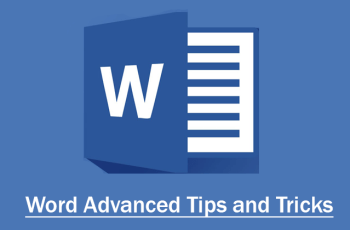 Word Advanced Tips and Tricks