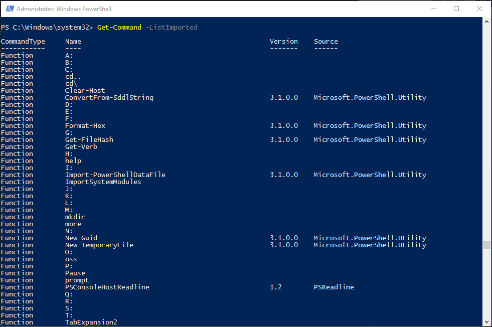 Get-Command PowerShell