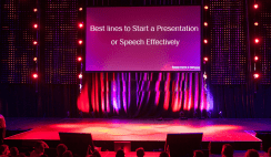 Best lines to Start a Presentation or Speech Effectively