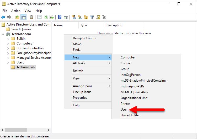 Create Single User on Windows Server 2016