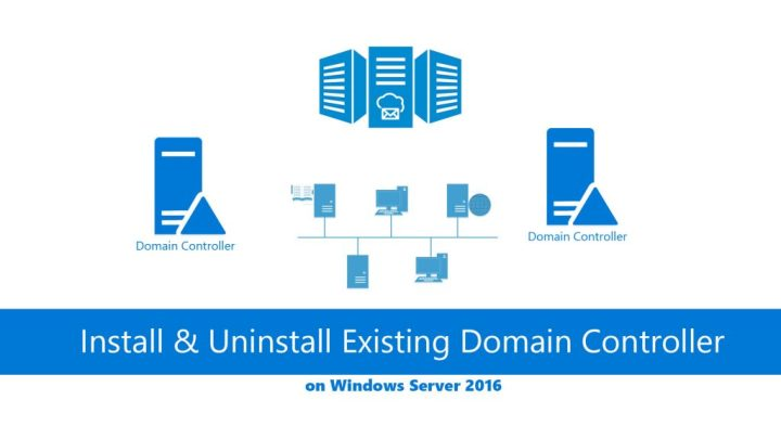 How to install & Uninstall Existing Domain Controller on Server 2016