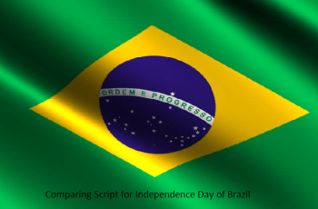 Comparing Scripta for Independence Day of Brazil