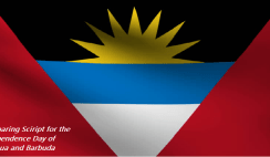 Comparing Script for the Independence Day of Antigua and Barbuda
