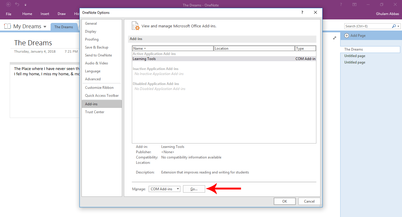 what is onenote 2018