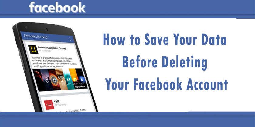 Can I Save All My Data Before Deleting My Facebook Account
