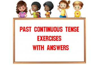 Past Continuous Tense Exercises With Answers