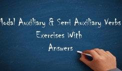 Modal Auxiliary & Semi Auxiliary Verbs Exercises With Answers