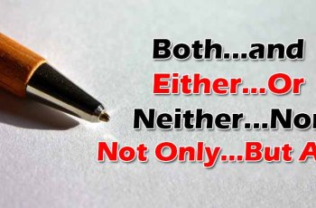 Both...and/Either...Or/Neither...Nor/Not Only...But Also