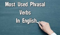 Most Used Phrasal Verbs In English