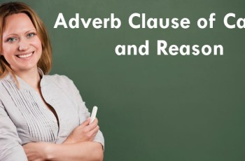 Adverb Clause of Cause and Reason Exercises