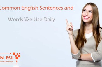 100 Common English Sentences and Words We Use Daily