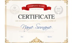Course Completion Certificate Script & Sample