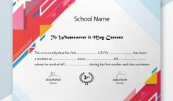 Student Verification Certificate Sample