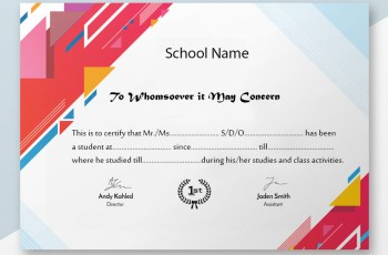 Student Verification Certificate Sample